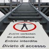 Multilingue aucun signe d'accès Photographie stock