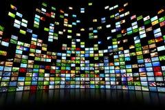 Multimédia vidéo et murs d'image illustration stock