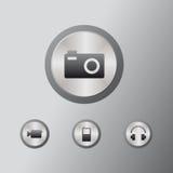 Multimédios dos ícones Imagem de Stock