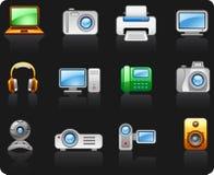 Multimédios dos computadores da eletrônica Fotografia de Stock Royalty Free