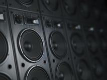 Multimedia acoustic sound speaker system. Music concept backgr. Ound. 3d illustration vector illustration