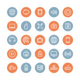Multimedia And Technology Flat Icons Set Royalty Free Stock Photos