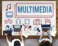 Multimedia Animation Computer Graphics Digital Concept.  Royalty Free Stock Photo