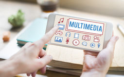 Multimedia Animation Computer Graphics Digital Concept Royalty Free Stock Photography
