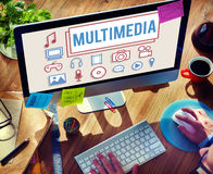 Multimedia-Animations-Computer-Animations-Digital-Konzept stockbilder