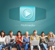 Multimedia Audio Computer Digital Entertainment Concept Royalty Free Stock Images