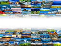 Multimedia background of many images Stock Photography
