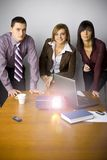 Multimedia Business Presentation Stock Image