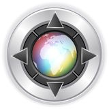 Multimedia button globe 4 Stock Photos