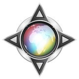 Multimedia button globe 5 Royalty Free Stock Images