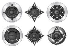Multimedia button set Stock Images