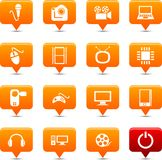 Multimedia    buttons. Stock Photography