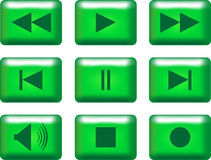 multimedia  buttons Stock Photos