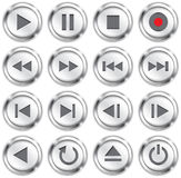 Multimedia buttons Royalty Free Stock Photos