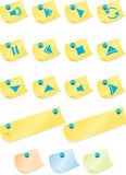 Multimedia Buttons: Post it Note Stock Photos