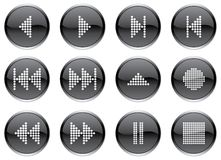 Multimedia buttons set. Royalty Free Stock Photo