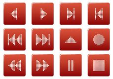 Multimedia buttons set. Stock Photography