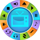 Multimedia Buttons - Wheel Royalty Free Stock Images
