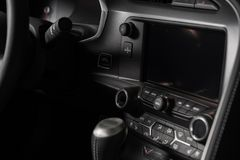 Multimedia Car Console Stock Photo