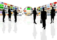 multimedia business presentation stock photo image of
