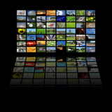 Multimedia center presentation Stock Images