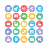 Multimedia Colored Vector Icons 3 Royalty Free Stock Photos