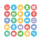 Multimedia Colored Vector Icons 4 Royalty Free Stock Photo