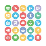Multimedia Colored Vector Icons 5 Stock Photos
