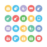 Multimedia Colored Vector Icons 11 Stock Photography