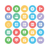 Multimedia Colored Vector Icons 1 Royalty Free Stock Image