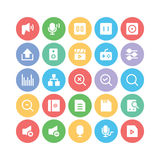 Multimedia Colored Vector Icons 9 Stock Image