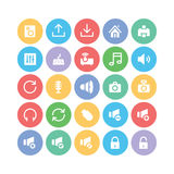 Multimedia Colored Vector Icons 2 Stock Photo