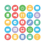 Multimedia Colored Vector Icons 8 Royalty Free Stock Images