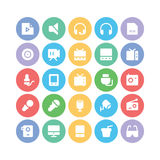 Multimedia Colored Vector Icons 10 Royalty Free Stock Images