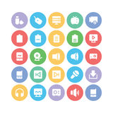 Multimedia Colored Vector Icons 7 Royalty Free Stock Photography