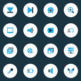 Multimedia Colorful Icons Set.  Royalty Free Stock Photo