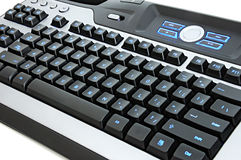 Multimedia computer keyboard Stock Images