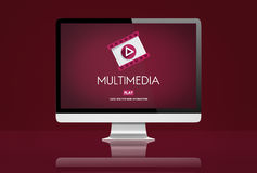 Multimedia Content Digital Entertainment Concept Royalty Free Stock Images