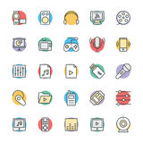 Multimedia Cool Vector Icons 4 Royalty Free Stock Images