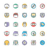 Multimedia Cool Vector Icons 1 Royalty Free Stock Image