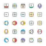 Multimedia Cool Vector Icons 2 Royalty Free Stock Photo