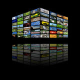 Multimedia cube vector illustration