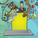 Multimedia del ordenador Imagen de archivo