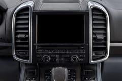 Multimedia dello schermo dell'automobile Fotografia Stock