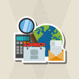 Multimedia design. technology icon. online  concept, vector illustration Royalty Free Stock Image
