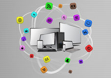 Multimedia device Stock Image
