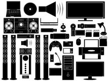 Multimedia devices Stock Image