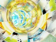 Multimedia, die Konzept strömen Lizenzfreie Stockfotografie