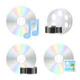 Multimedia disk icons Royalty Free Stock Photo
