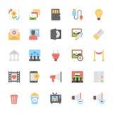 Multimedia-Ebene farbige Ikonen 10 Lizenzfreie Stockfotos